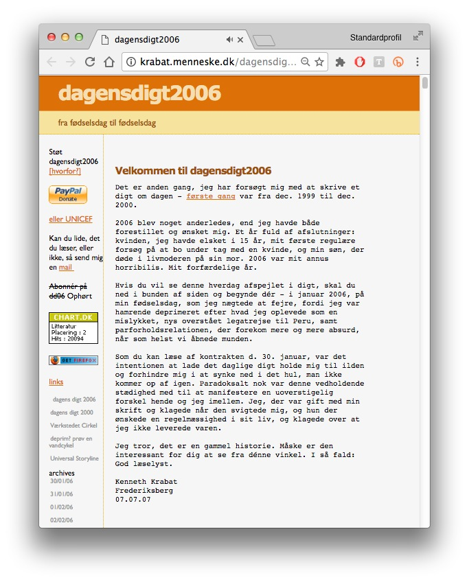 2006, DagensDigt2006