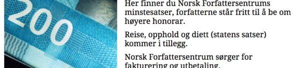 Norske og svenske anbefalede løsværkstakster