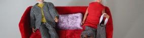 Rød sofa