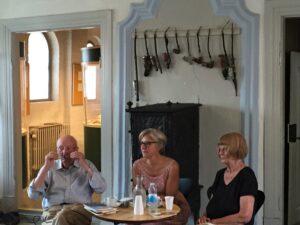 Charlotte Strandgaard og Knud Sørensen på slap line på Kulturmødet På Mors. Interviewer på Charlotte Rørth.
