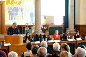 Formand Jakob Vedelsby og Panel 1